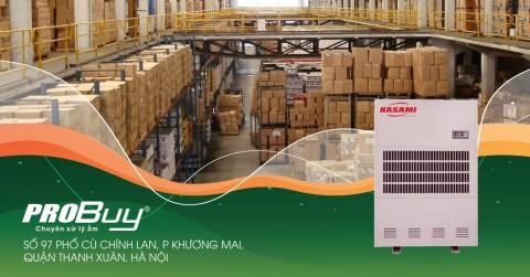 Máy hút ẩm công nghiệp Kasami KD-480 bảo quản hàng hóa khỏi ẩm mốc