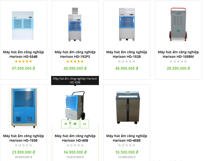 Bảng giá máy hút ẩm công nghiệp Harison giá rẻ